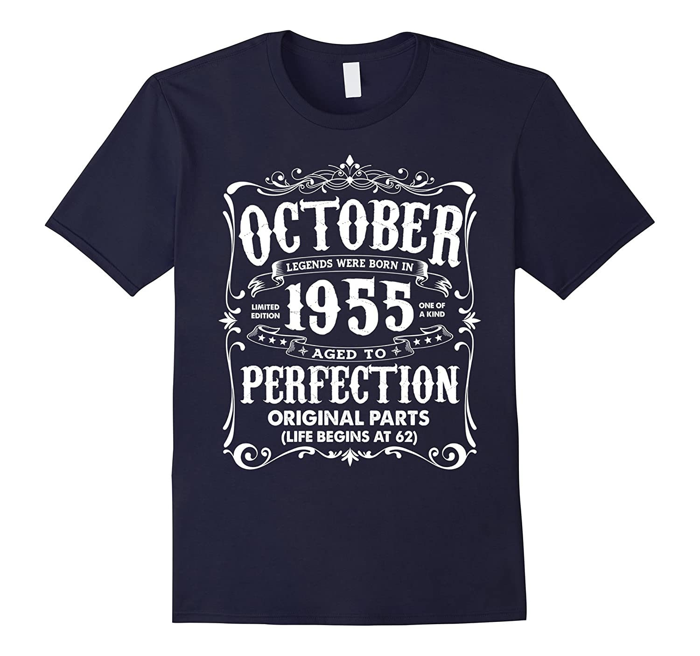 Vintage Legends Born In October 1955 Birthday T-Shirt-FL