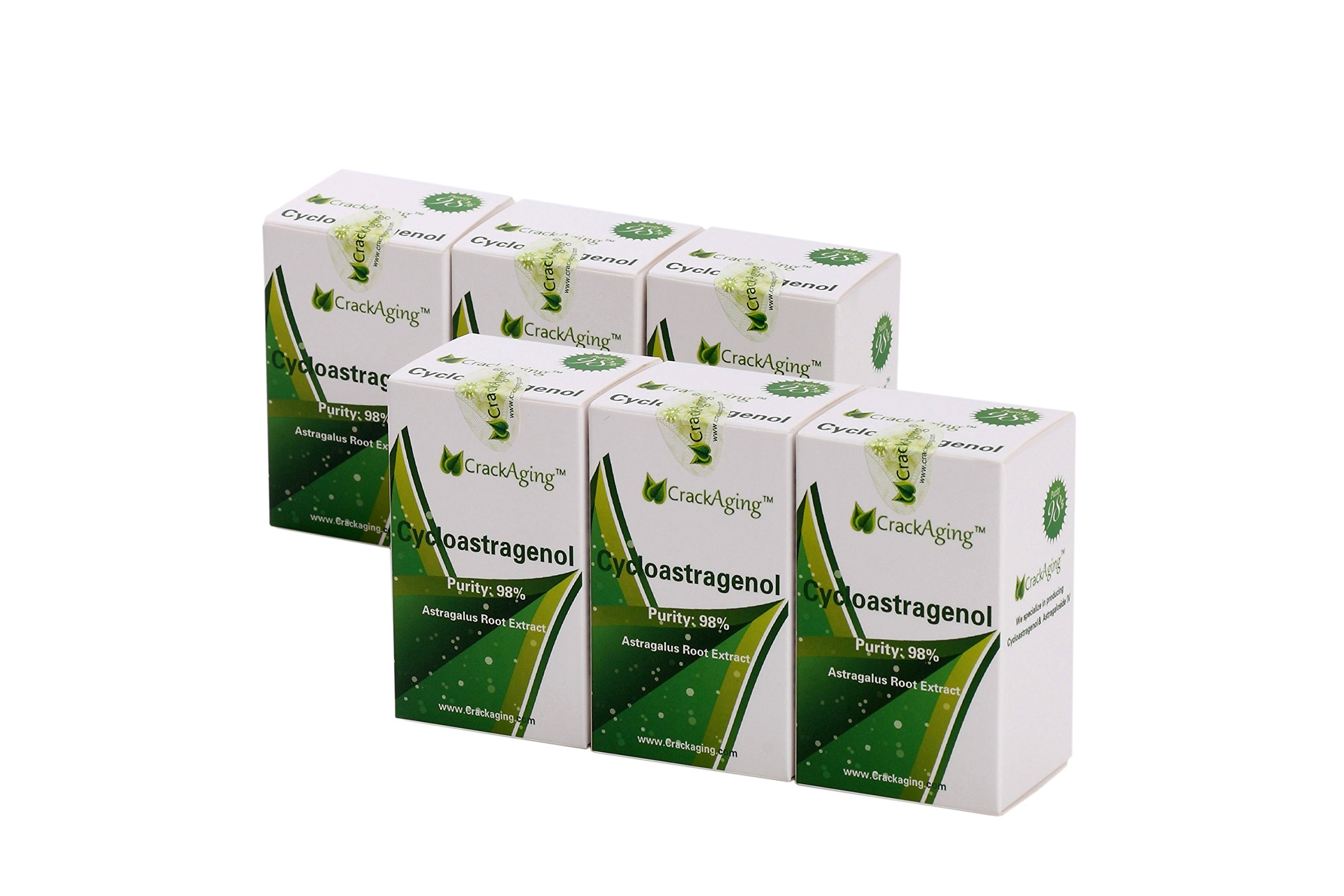 Super-Absorption Cycloastragenol 98% (25mg/Cap, 180 Caps in 6 Bottles)