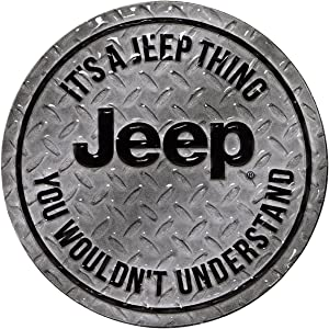 Open Road Brands Jeep You Wouldn't Understand Embossed Metal Magnet Art Sign - an Officially Licensed Product Great Addition to Add What You Love to Your Home/Garage Decor