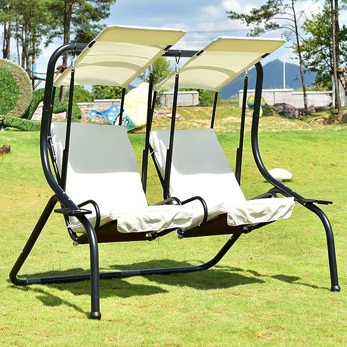 Admirable Amazon Com Cretamarket Hammock Outdoor Patio 2 Person Swing Machost Co Dining Chair Design Ideas Machostcouk