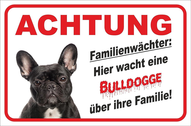 AdriLeo Schild 15x20cm Vorsicht Franz/ösische Bulldogge Zone