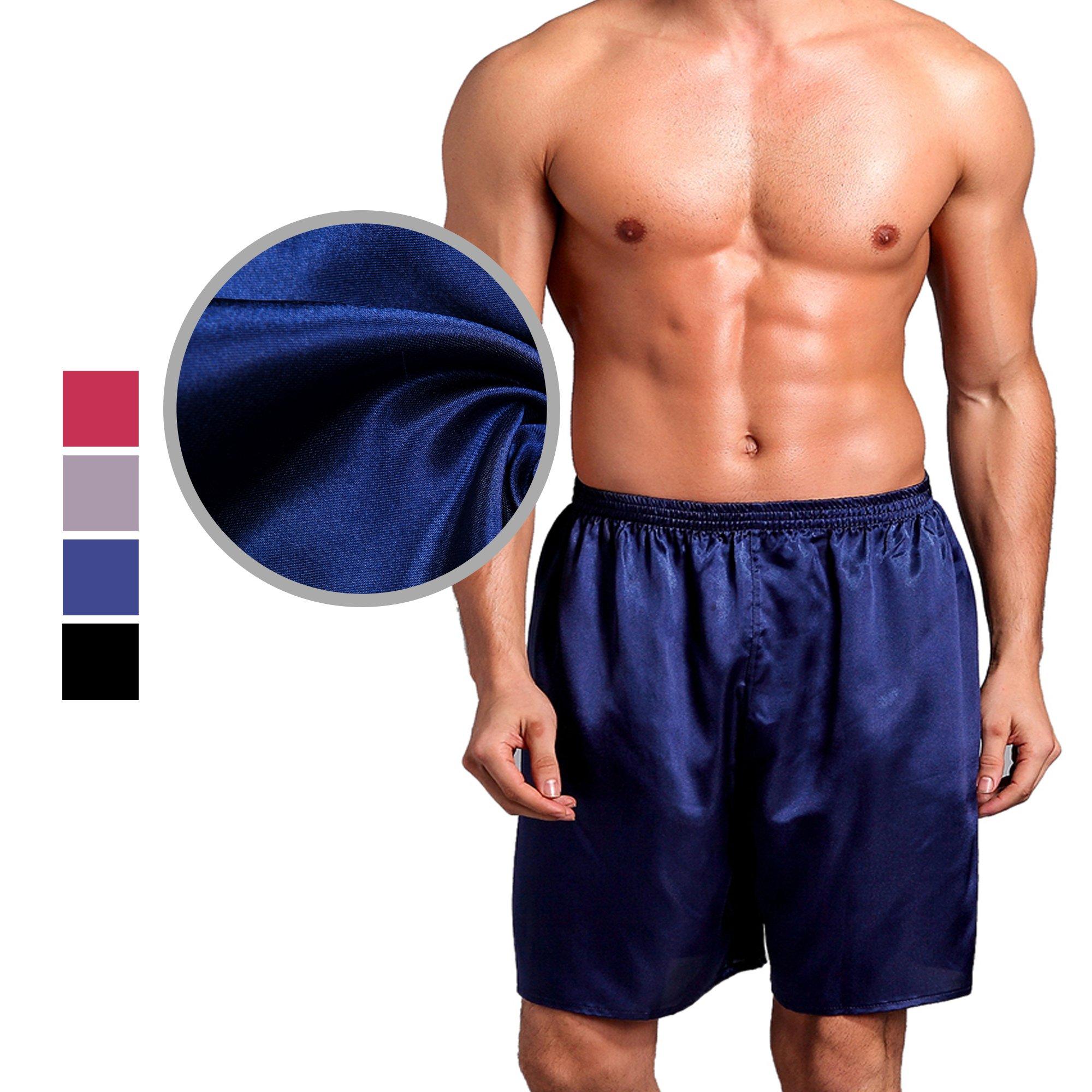 Chris&Je Mens Lounge Shorts Satin Fabric 28''-34'' Waist Size