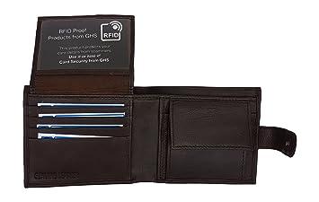 06c45b16515d MENS RFID WALLET - Contactless Safe RFID BLOCKING SCAN PROOF Mens Designer  Wallet - Genuine Leather - KEEP YOUR MONEY SAFE - 10 Credit Card Spaces, ...