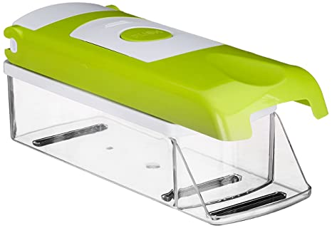 Amiraj Plastic Fruit and Vegetable Chopper Set, 3-Pieces, Transparent/Green Graters & Slicers at amazon