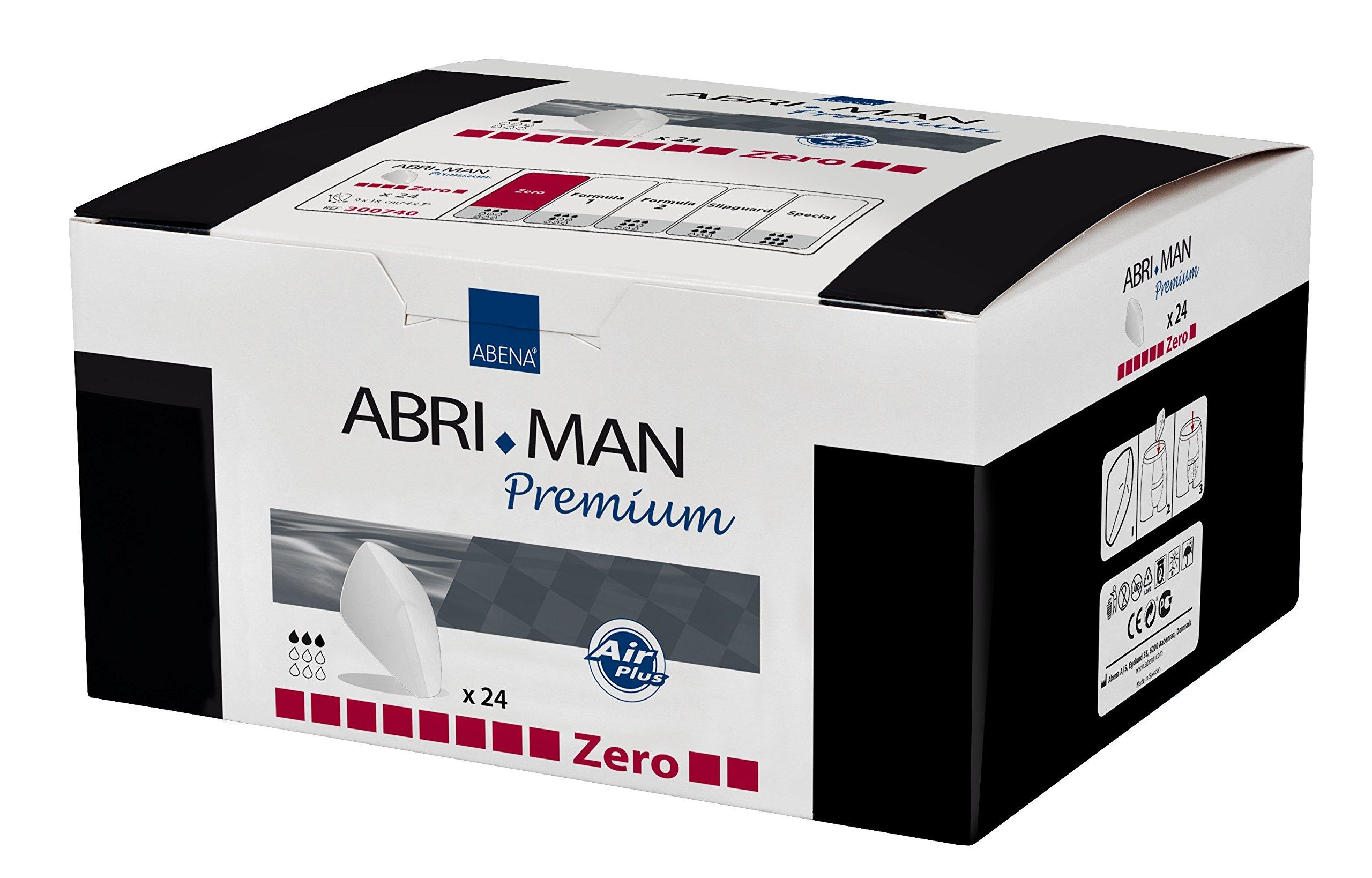 Abena Abri-Man Male Pouch Incontinence Guards Zero, 24 Count