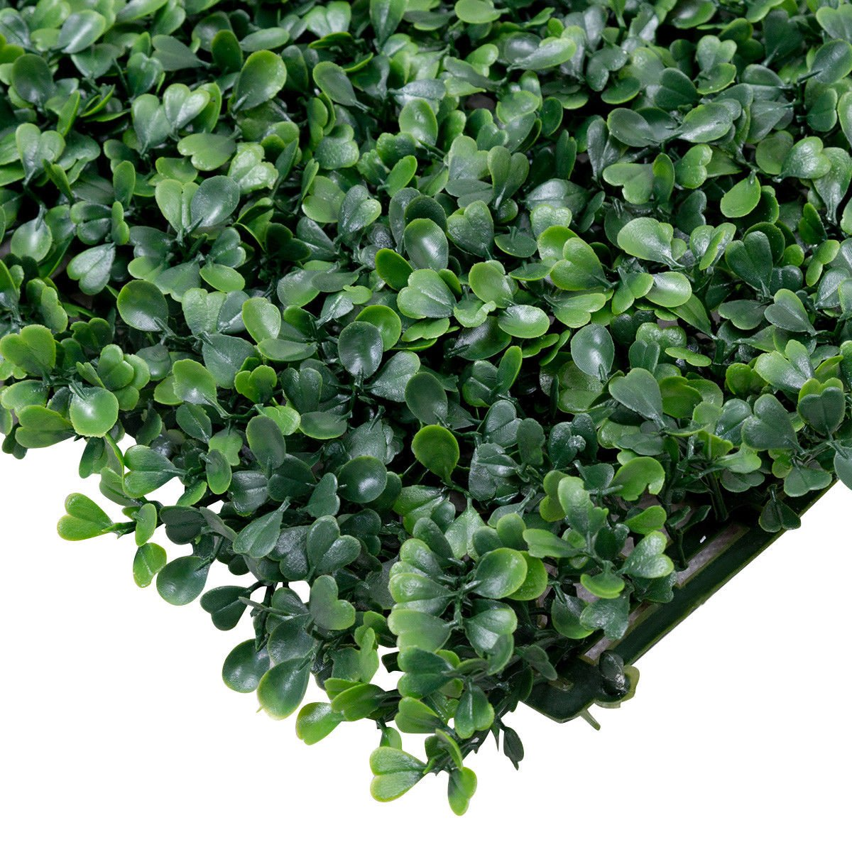 12 Pcs Boxwood Panels Giantex Artificial Privacy Fence Screen Boxwood Milan Leaf Grass Hedge Panels Mat Indoor Outdoor Topiary Decorative Fake Plant Wall 20x20