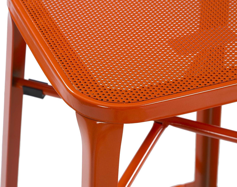 2er Set stapelbar THC Living Metall Barhocker Industrial 41x76x41cm Bunte Industrie Design Barst/ühle Gelb Bistrohocker