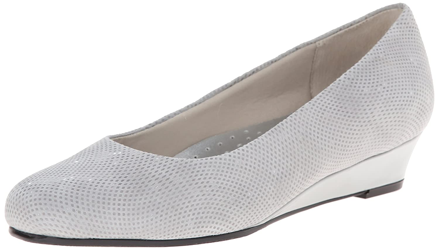 Trotters Women's Lauren Dress Wedge B00LMGWI6U 11 B(M) US|Light Grey Suede