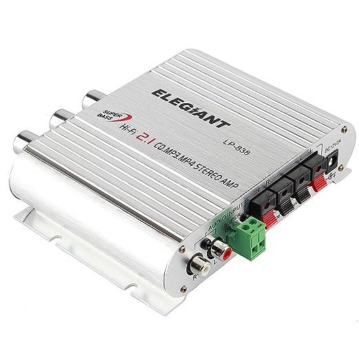 79 opinioni per Amplificatore Auto Stereo, ELEGIANT Mini 200W 12V HiFi Potenza Canale Audio