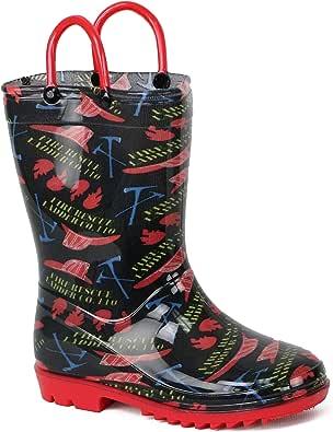 Lilly of New York Children's Rain Boots for Little Kids & Toddlers, Boys & Girls
