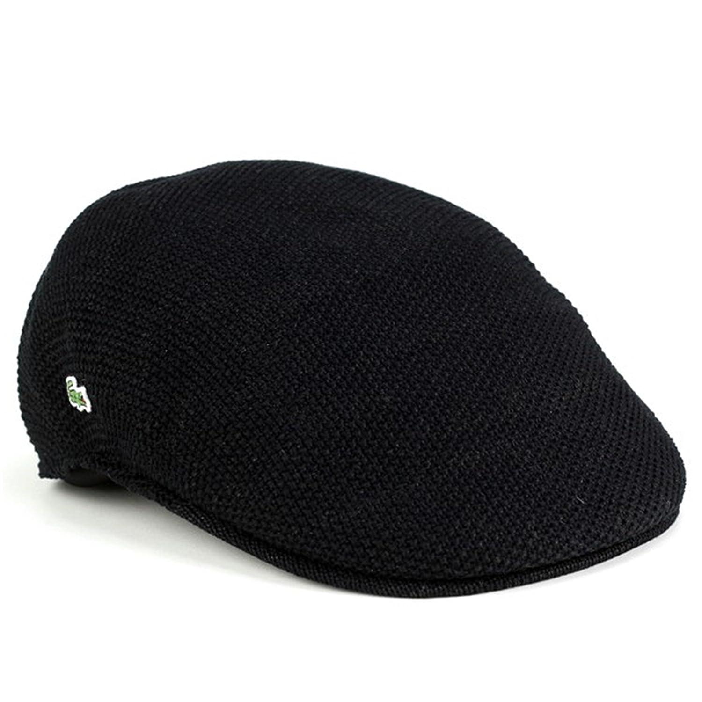 ハンチング 帽子 メンズ/サマーニット 春夏 ファッション/鹿の子編み ニット/ラコステ lacoste/ブランド スポーツ/黒 ブラック B00VRDFA8G   58cm