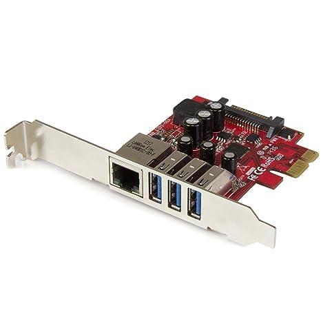 StarTech.com PEXUSB3S3GE - Tarjeta de Red (USB 3.0, 3 ...