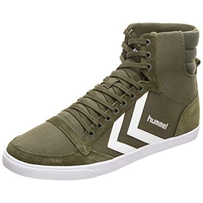 8b36c31ccf5 Hummel Unisex-Erwachsene Slimmer Stadil HIGH Hohe Sneaker, Grün (Olive  Night 6453)