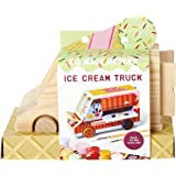 Craft Kit - Kid Made Modern Paint Your Own Ice Cream Truck - DIY Toy Set for Kids