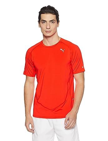 Puma Faster Than You T-Shirt red Blast fr: S (Größe Hersteller: