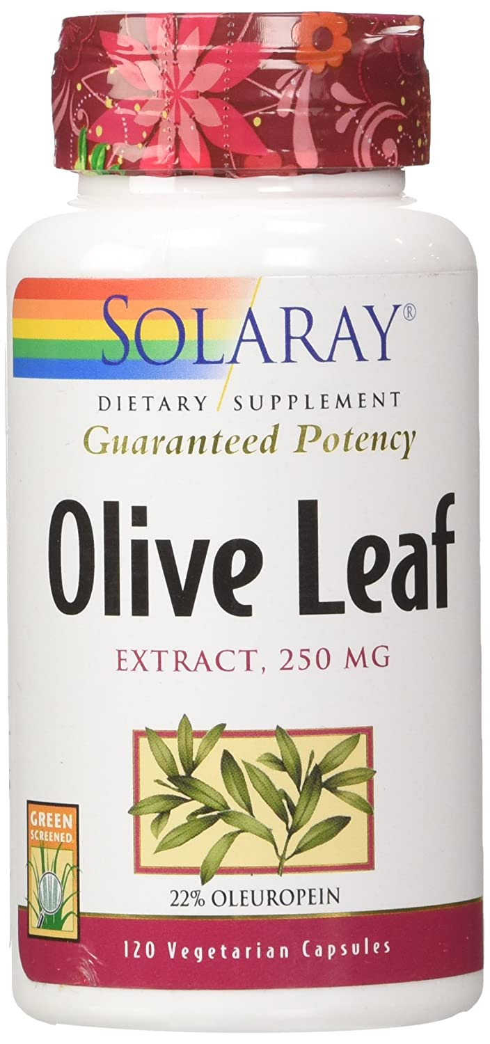 Solaray Olive Leaf Extract 22 Supplement, 250 mg, 120 Count