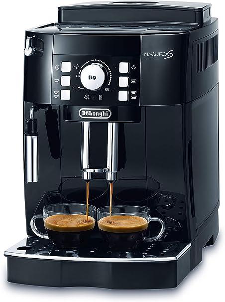 DeLonghi Magnifica S Cafetera automática, compacta, con portafiltro, 1450 W, 1.8 L, acero inoxidable, negro: Amazon.es: Hogar