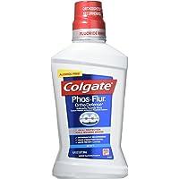 Colgate Phos-Flur Anti-Cavity Fluoride Rinse Mint 16.9 Fl oz (Pack of 3)