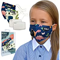 BEOLA Washable Face Kids Mask Non Medical Reusable Cotton With Valve Filter For Children (Clair 2 pcs)