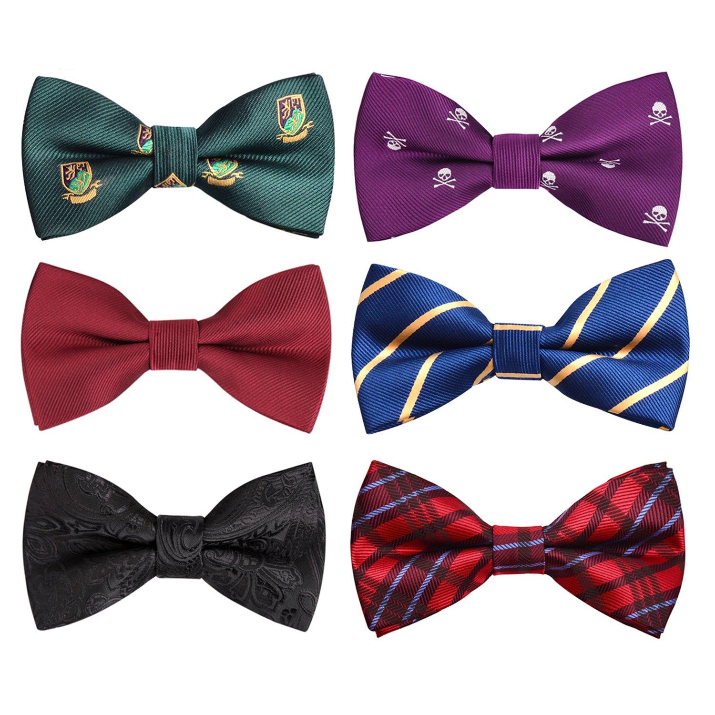 Alizeal Pre-tied Adjustable Bow Tie for Men Boy Accessory Lot AM002-Set 1