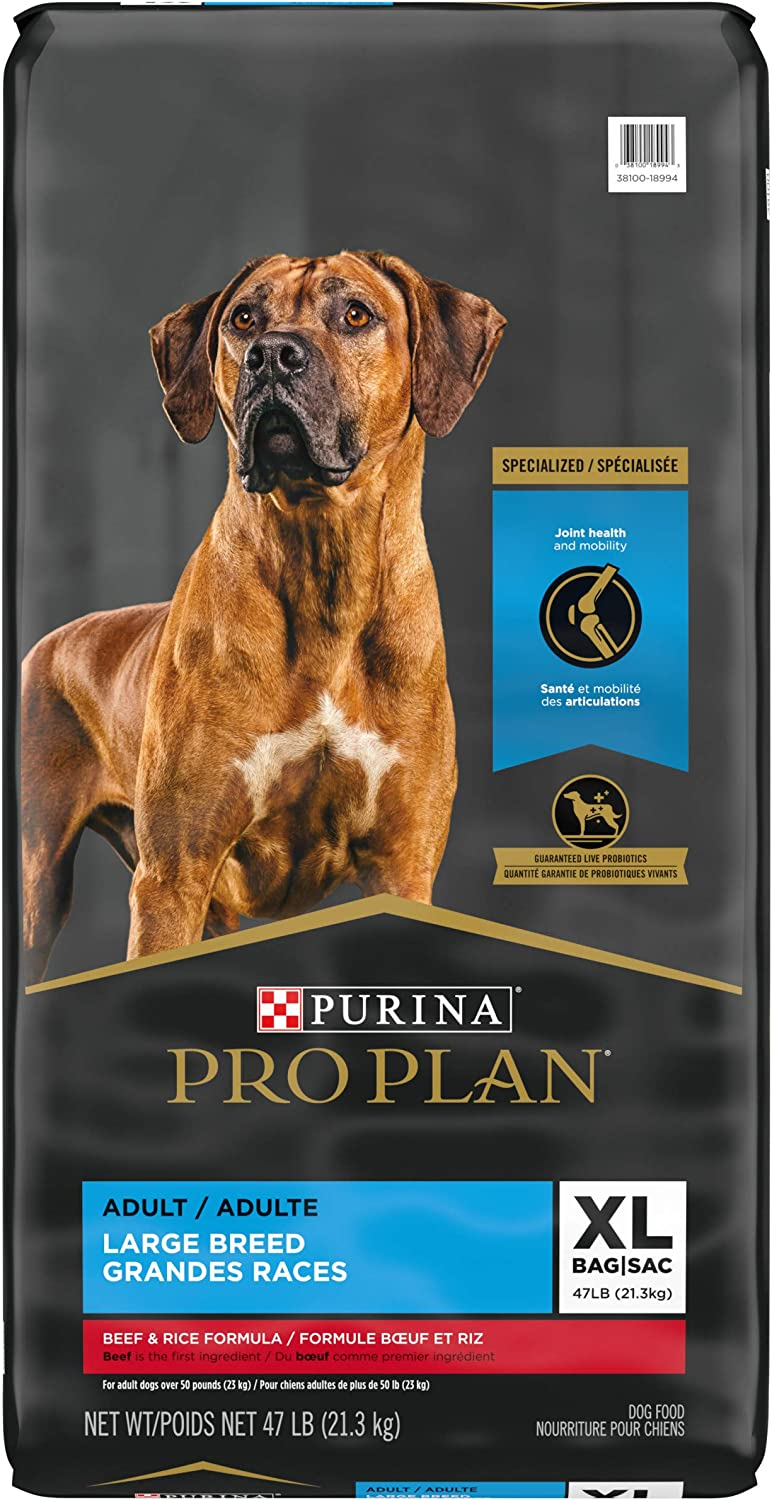 Purina Pro Plan Joint Health Large Breed Dog Food with Probiotics for Dogs, Beef & Rice Formula - 47 lb. Bag