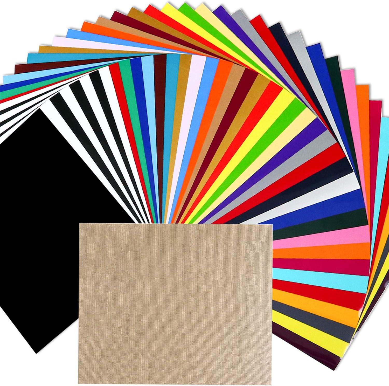 """Iron On Heat Transfer Vinyl-12/""""x10/"""" 15 sheets Glitter HTV Sampler Pack Bundle"""