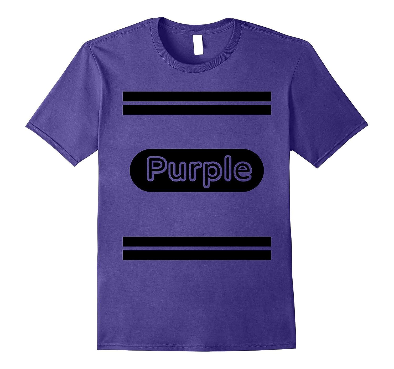 Purple-Crayon Costume T-Shirt Adults & Kids Halloween Tshirt-T-Shirt