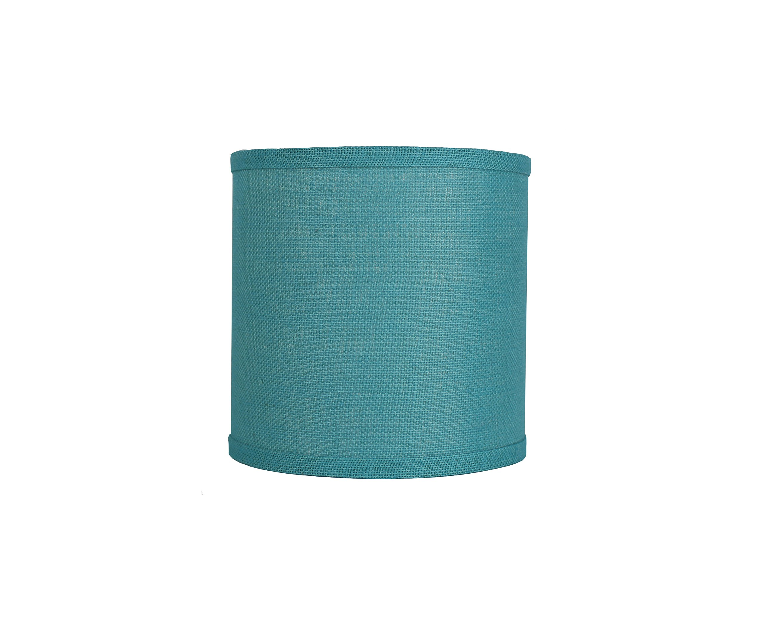 Urbanest Classic Drum Burlap Lampshade, 10-inch by 10-inch by 10-inch, Spa