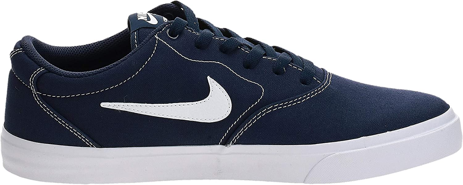 Nike SB Charge Canvas, Chaussures de Skateboard Mixte Multicolore Midnight Navy White Midnight Navy Black 402
