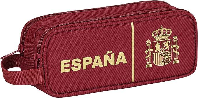 España- Selección Española - Estuche portatodo Doble (SAFTA 811437513), Color Rojo/Amarillo: Amazon.es: Ropa y accesorios