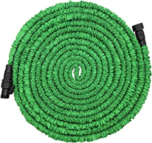 POYINRO Expandable Garden Hose, 75ft Strongest Expanding Garden Hose with Triple Layer Latex Core & Latest Improved Extra Strength Fabric Protection for All Your Watering Needs Improved Design(Green)