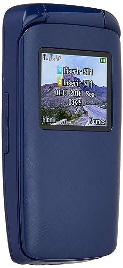 ff024e6c87e3a Celular Flip Dual SIM FM Câmera Digital