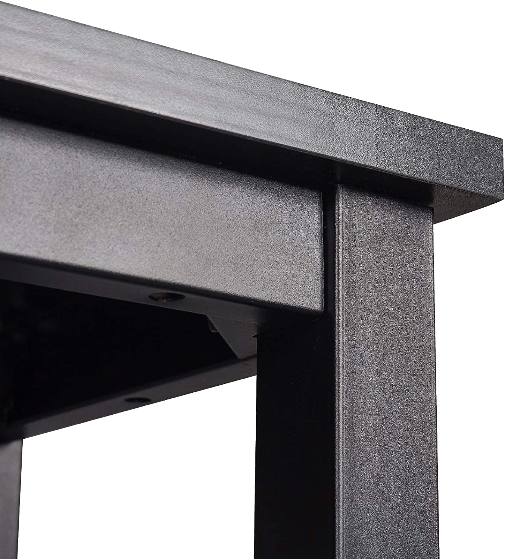 WOLTU BT17sz Tavolo da Bar Rettangolare Alto Tavolino per Cucina in Metallo Legno 120x40x100 cm