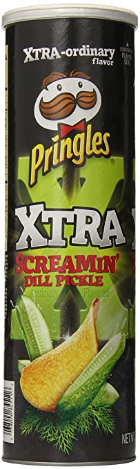 Pringles Extreme Screaming Dill Pickle Chips, 5.96 Ounce