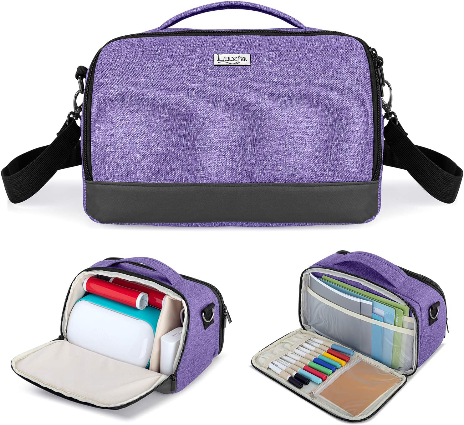 Yarwo Carrying Case Compatible with Cricut Joy Portable Tote Bag with Pockets for Craft Tools Set Black