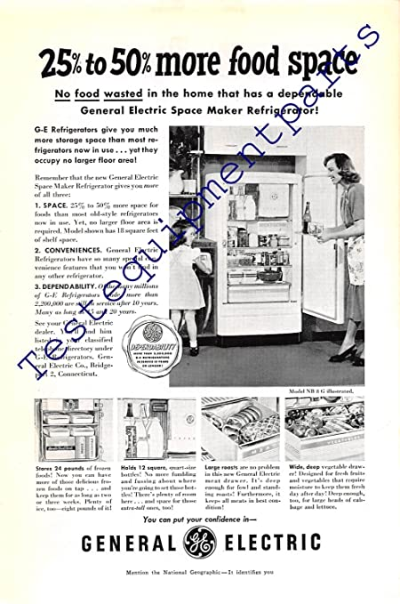 Print Ad 1950 General Electric