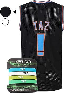 Amazon.com: AFLGO Taz Space Jam Jersey - Camiseta de ...