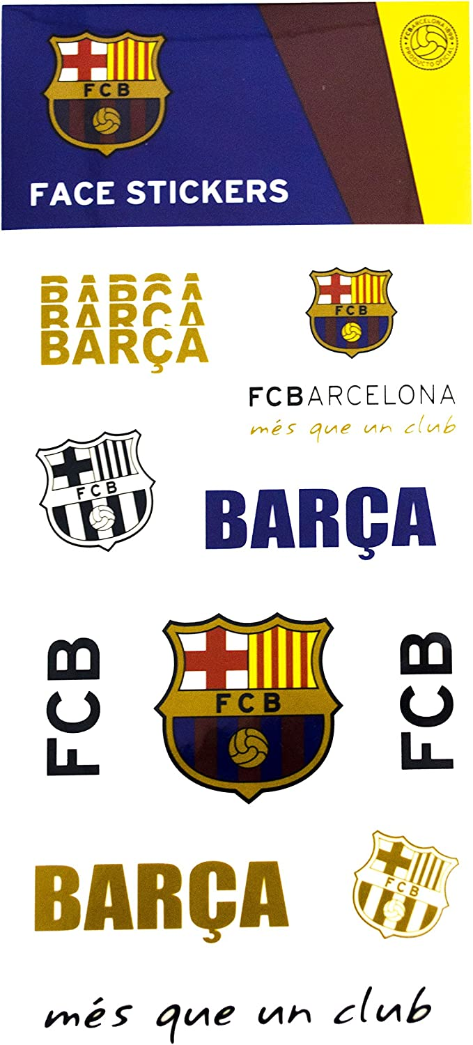 Maccabi Art Official FC Barcelona Face Stickers