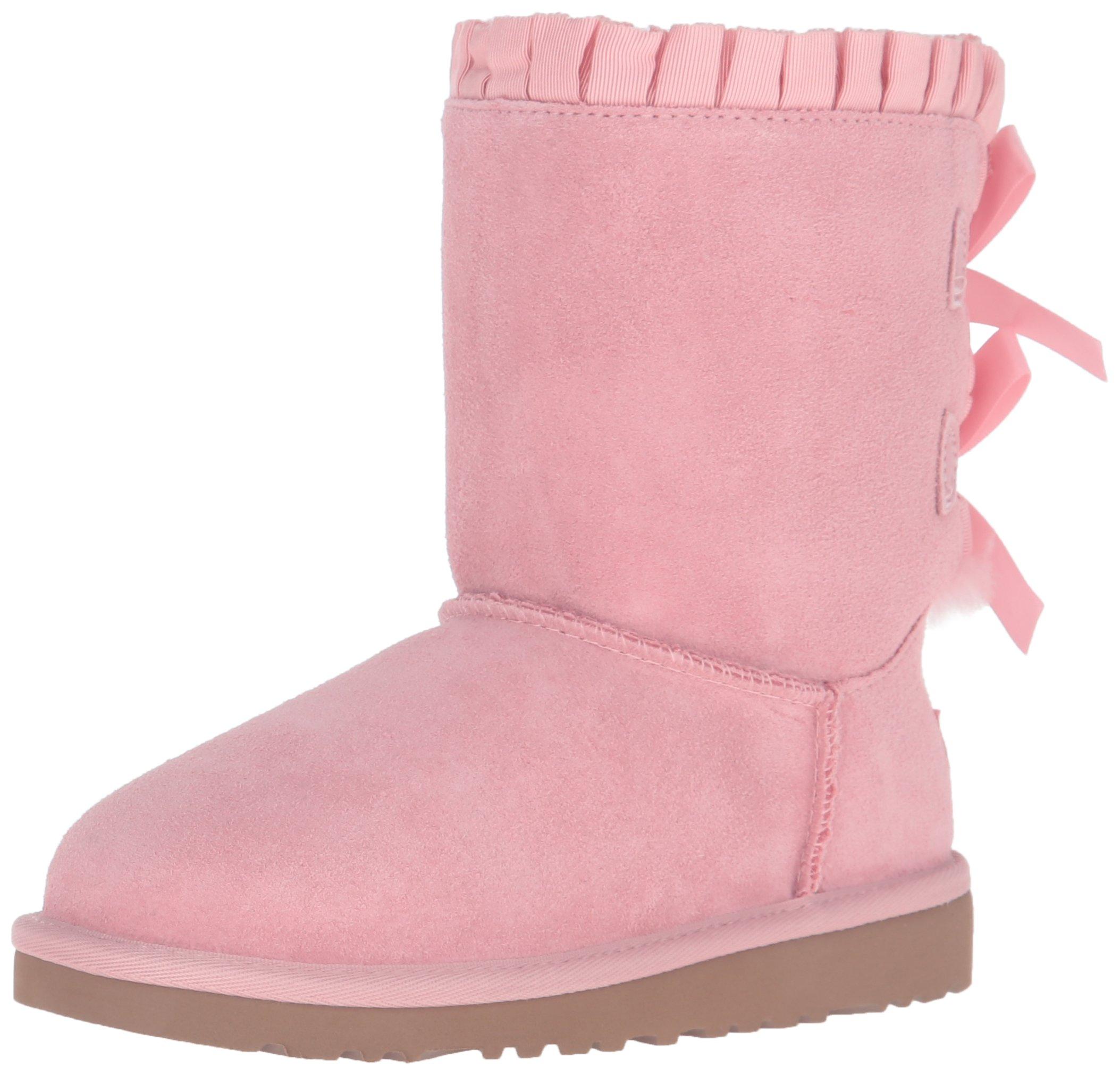 UGG Australia Kid's Bailey Bow Ruffles Boot, Baby Pink, 2