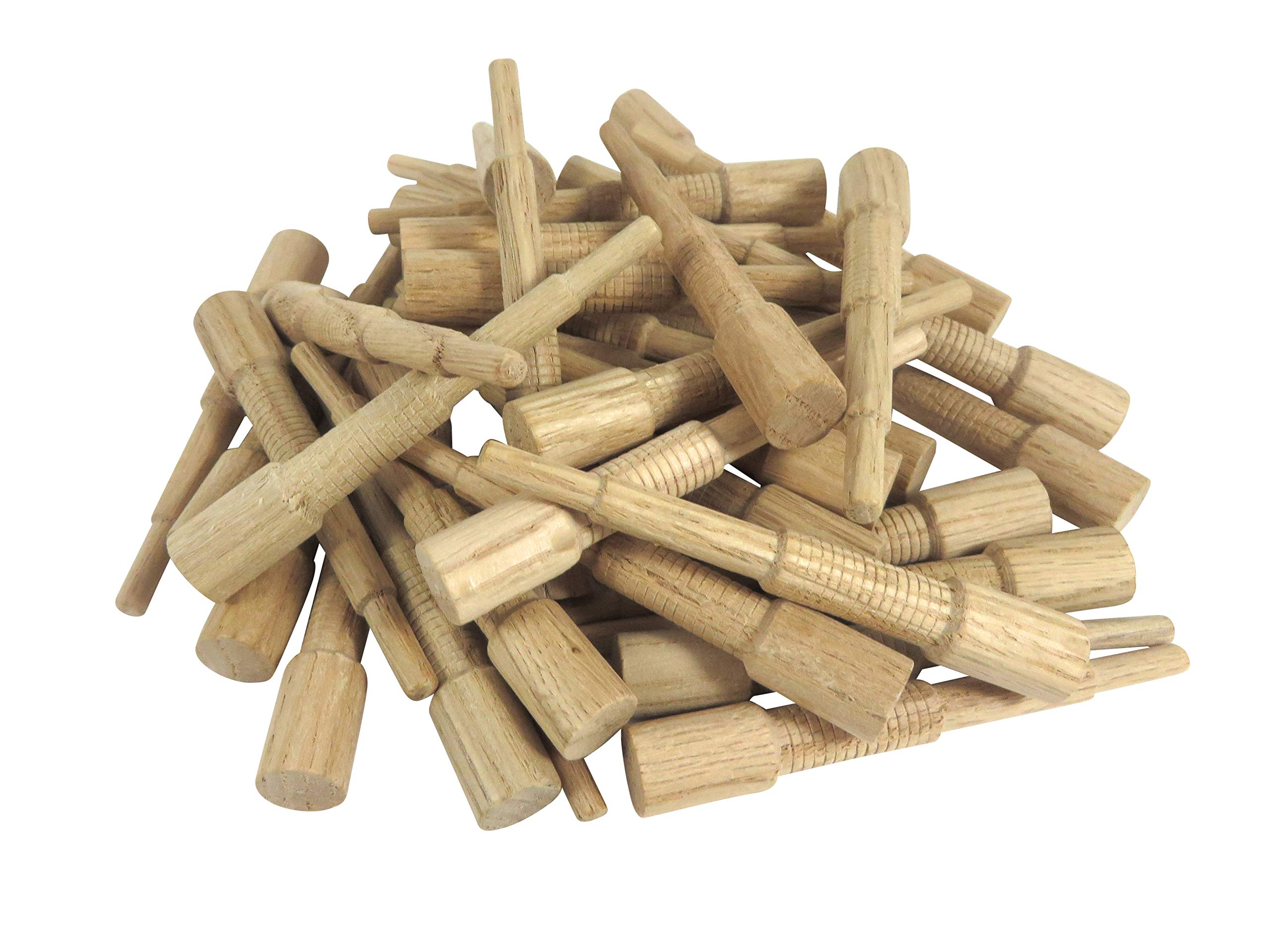 Miller Dowel O12D11-100 Pack of 100 Each 1X Stepped Oak Dowels 3/8'' Diameter for Stock up to 1'' Thick by Miller
