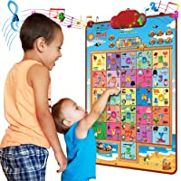 Just Smarty Interactive 100 Words Poster, Preschool Alphabet and Words Learning Toy for 2, 3, 4, 5 Year Old Boys and…