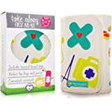 Compact First Aid Kit, Mom's Emergency Travel Pouch for Car, Backpack, Diaper Bag, Purse & Baby Shower Gift, Latex-Free Supplies (Kid Joy)
