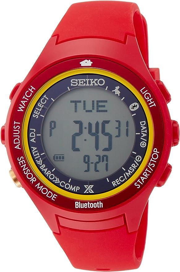 [セイコーウォッチ] 腕時計 プロスペックス Alpinist デジタル SEIKO WATCH LINK SBEK005 レッド