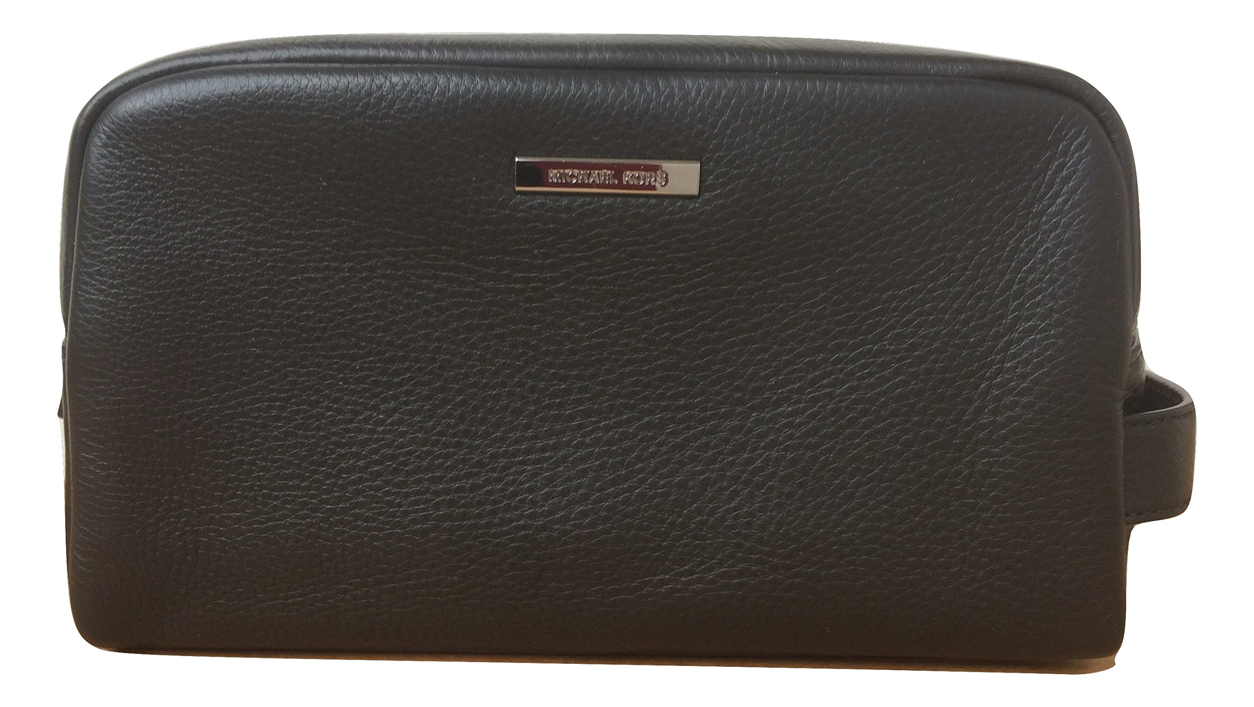 Michael Kors Stephen Leather Toiletry Holder Travel Case (Black) by Michael Kors