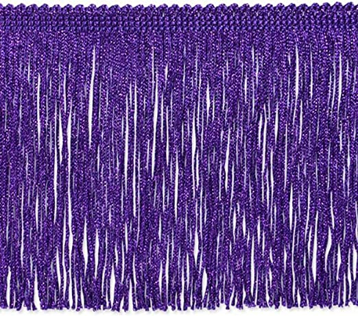 Expo International 20-Yard Chainette Fringe Trim Purple 4-Inch