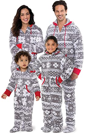 PajamaGram Family Pajamas Matching Sets - Nordic Fleece Christmas ... 8b41e83cb