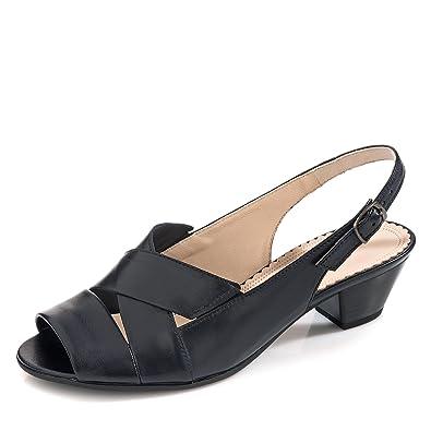 Gabor 86.571 56 Damen Sandalette aus Glattleder Riemchen mit Schnalle