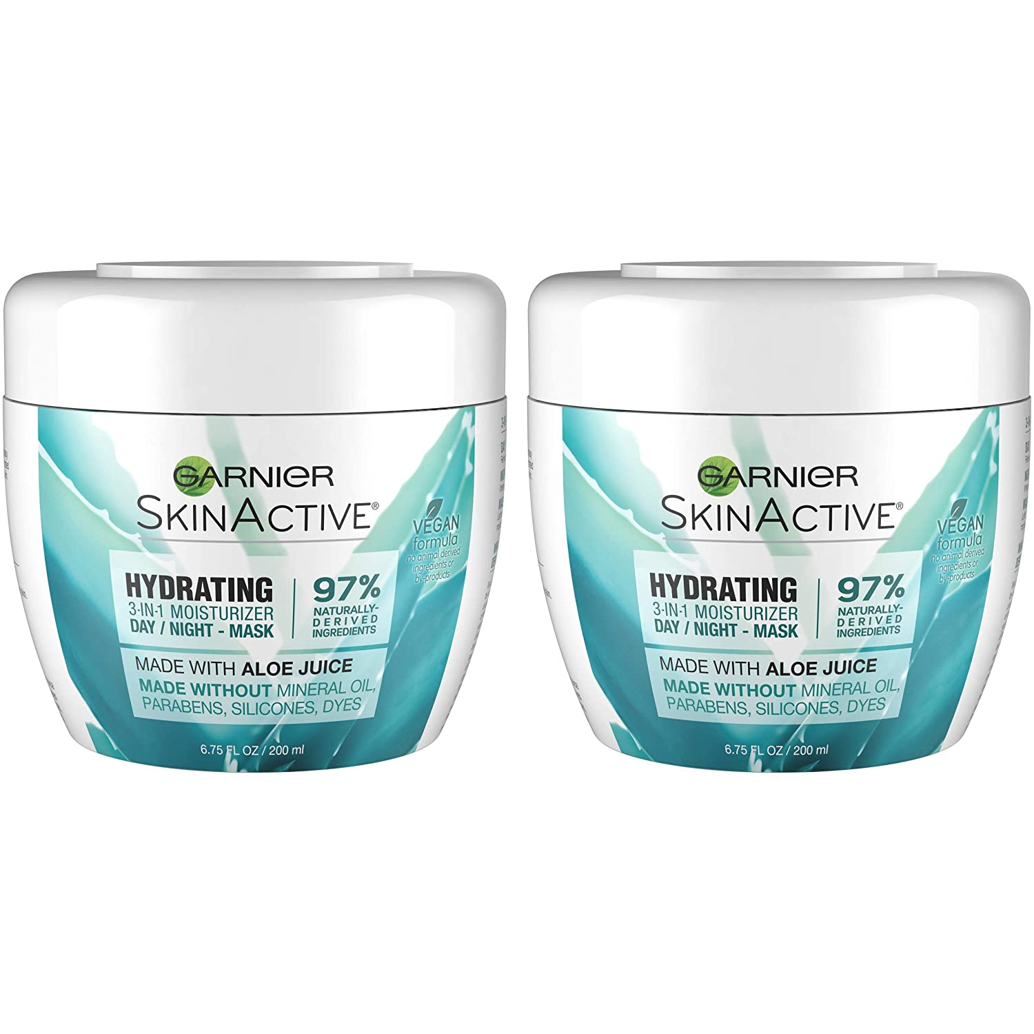 Garnier Skinactive Skinactive 3-In-1 Face Moisturizer with Aloe for Dry Skin, 2 Count