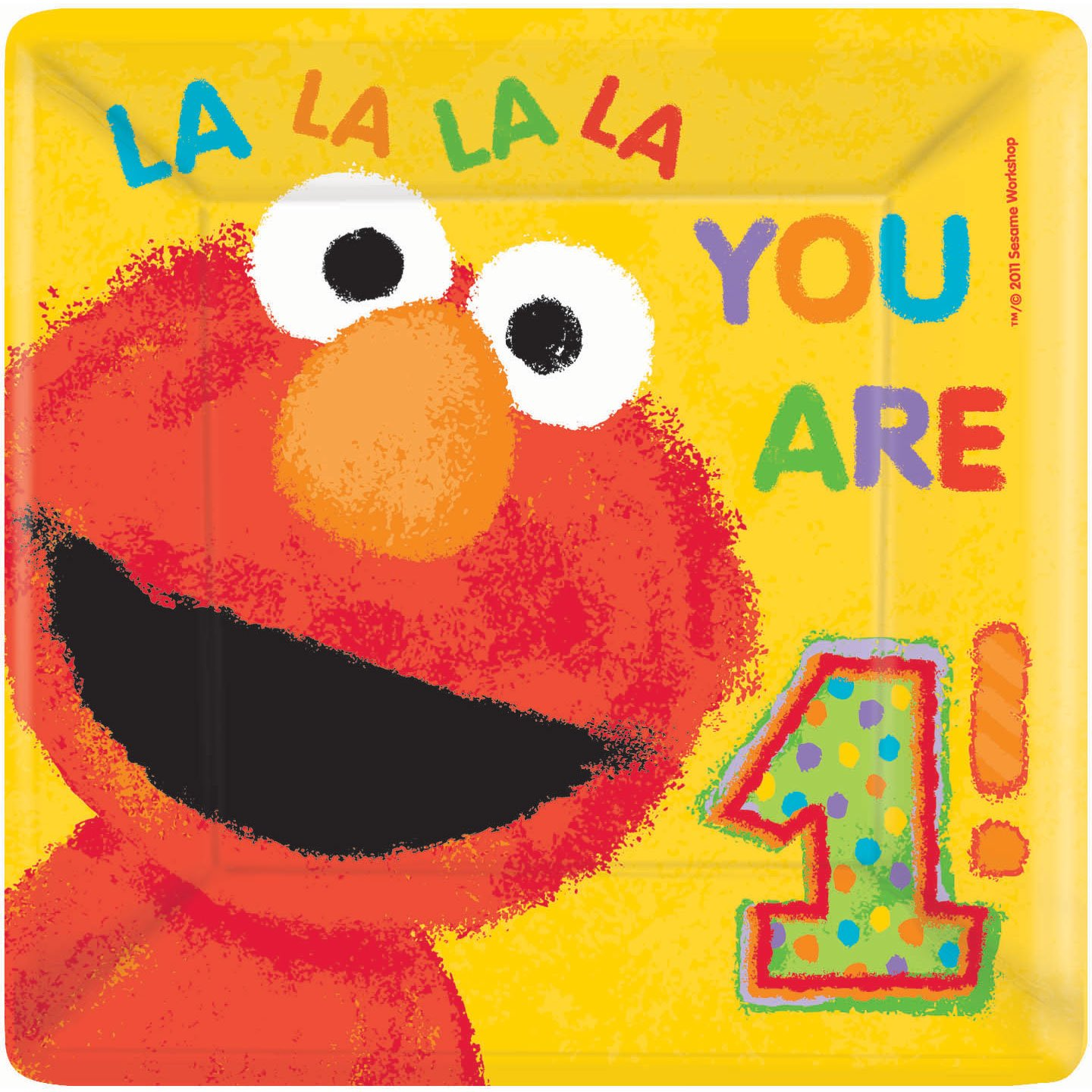 Amazon.com Sesame Street 1st Birthday Large Square Paper Plates (18ct) Toys u0026 Games  sc 1 st  Amazon.com & Amazon.com: Sesame Street 1st Birthday Large Square Paper Plates ...