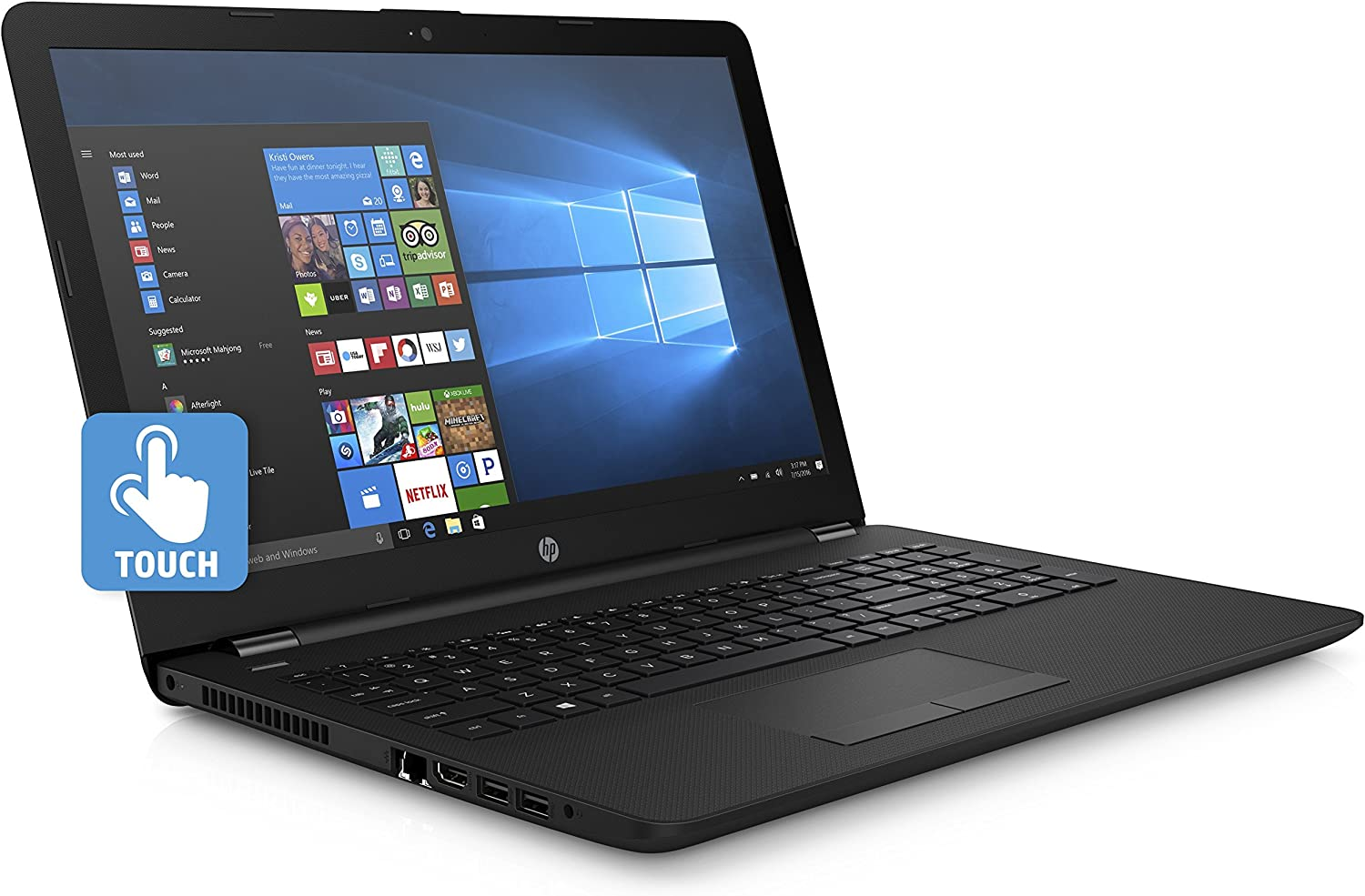 HP 15.6-Inch HD Touchscreen Laptop (Intel Quad Core Pentium N3540 2.16 GHz, 4GB DDR3L-1600 Memory, 500 GB HDD, DVD Burner, HDMI, HD Webcam, Win 10)